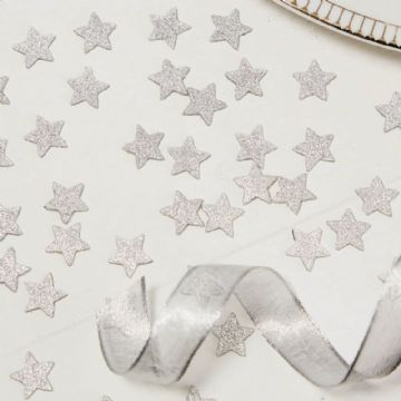 Silver Star Party Table Confetti